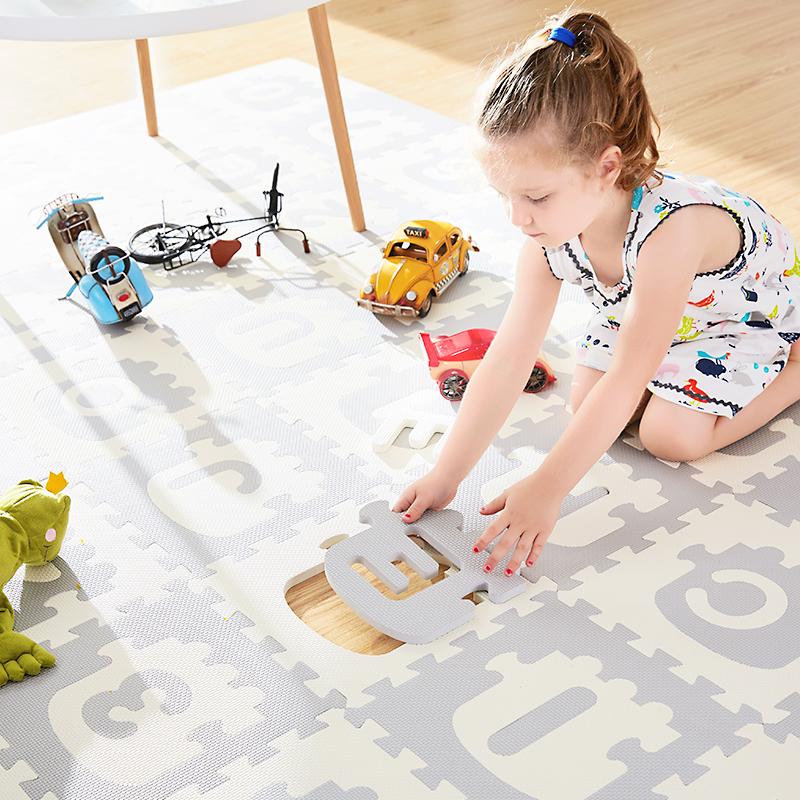 余姚小火车泡沫地垫宝宝拼图地垫塑料泡沫地板垫子30*30防滑环保36片/包