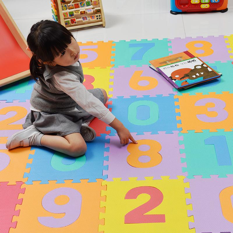 明德数字拼图地垫婴儿PE泡沫防滑地垫宝宝卧室拼接爬行垫客厅家用