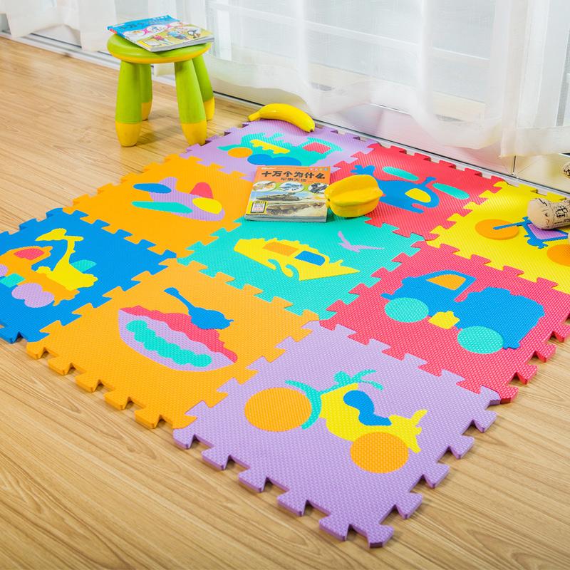 明德交通拼图地垫婴儿PE泡沫防滑地垫宝宝卧室拼接爬行垫客厅家用