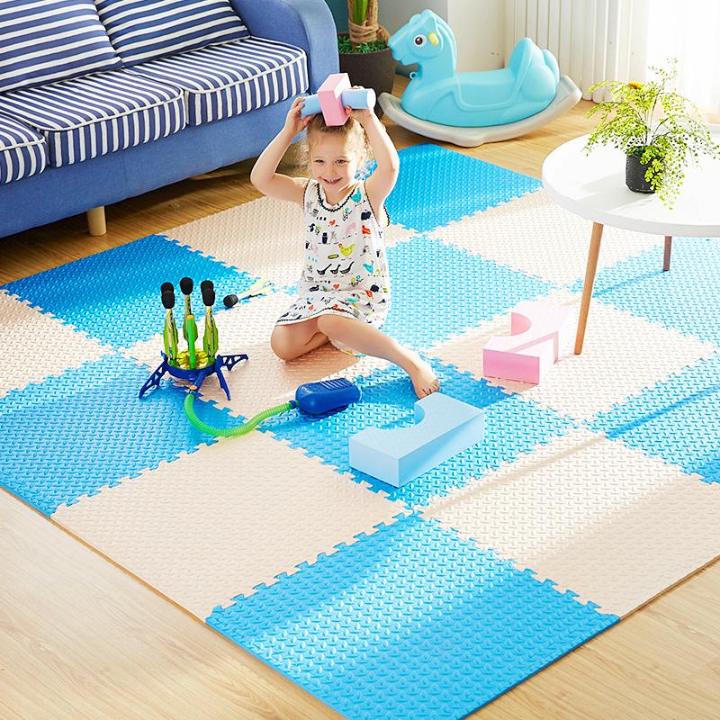 明德树叶纹儿童卧室拼图地板爬行垫宝宝大号加厚泡沫地垫拼接榻榻米家用