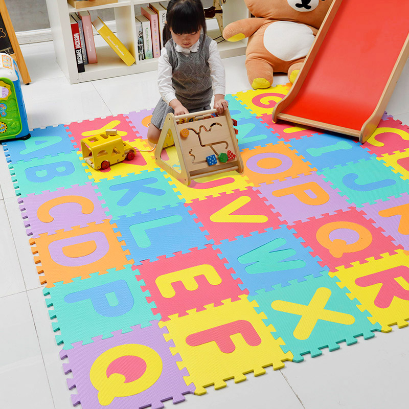 明德字母儿童拼接地垫婴儿爬爬垫宝宝学习认知地垫