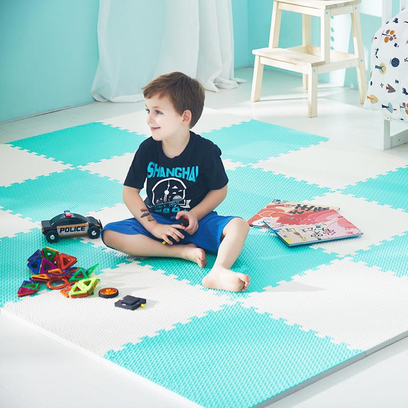 余姚拼接泡沫高弹水点纹地垫儿童爬行拼图垫宝宝卧室防滑垫
